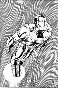 "Iron Man Anthony Edward ""Tony"" Stark by John Romita Jr. Comic Book Heroes, Iron Man Comic, Comic Covers, John Romita Jr, Comic Books Art, Marvel Comic Universe, Cartoons Comics, Romita, Geeky Art"