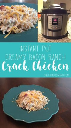 Creamy Bacon Ranch Crack Chicken | One Hangry Mama