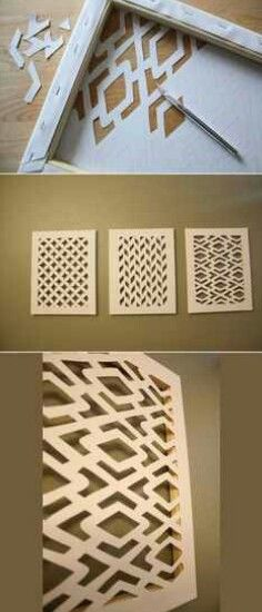 Super cool idea for canvases! Cutting out words would be neat :)