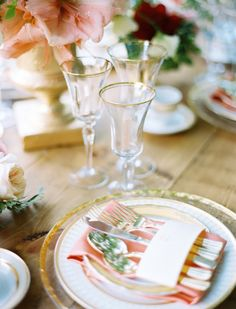 blush and gold place setting | ben Q. photography