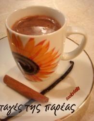 Ρόφημα ζεστής σοκολάτας με βανίλια και κανέλλα #sintagespareas