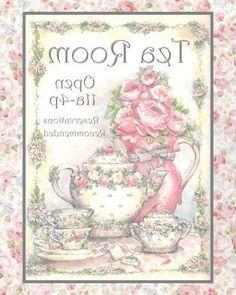Tea Room Decoupage Vintage, Decoupage Paper, Foto Transfer, Scrapbooking, Graphics Fairy, Mirror Image, Vintage Labels, Shabby, Card Sketches