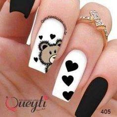 Heart Nail Designs, Nail Art Designs Videos, Cute Acrylic Nail Designs, Best Acrylic Nails, Pink Nails, Gel Nails, Manicure, Nail Polish, Trendy Nail Art