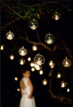 Porch/Patio/Balcony - Candles in bubble balls | Want a beautiful wedding video / film / images see us at www.whitedressproductions.com.au