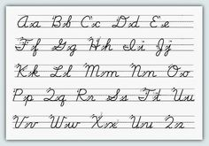 Abc Cursive Handwriting Worksheets 6 Alphabet Writing For Kids