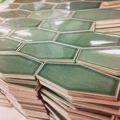 elongated hexagon tile green - Google Search