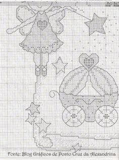 100%_ponto_cruz: Quadro de Nascimento da Princesa