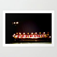 parking Art Print by Anatomy|Geography - $19.00