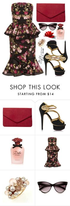 """""""For some important events"""" by nicolesynth ❤ liked on Polyvore featuring Dorothy Perkins, Charlotte Olympia, Dolce&Gabbana, Alexander McQueen and Mimí"""