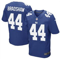 Nike Elite Men's New York Giants #44 Ahmad Bradshaw Team Color Blue NFL Jersey