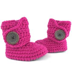 Baby Girl Boots Hot Pink and Gray Infant Soft Sole Booties Baby Booties Keepsake baby shower gifts -- new baby gift - baby clothing - gifts under $30 - gifts under $50 - pregnacy announcement #Newborngifts, #newborn #baby #babyboy, #babygirl, #genderneutral #genderreveal, #babyclothes, #handmade, #shopsmall, #organicbaby, #cutebabyclothes #babyshoes #babyboots #tweed #handmadebabyclothes #bohobaby #mountainbaby #washingtonbaby #oregonbaby #pnwbaby #eastcoastbaby #westcoastbaby #trendybaby…