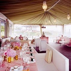 chic lounge blush & gold bridal shower