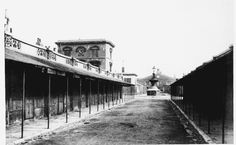 Randall's Market in the 1920s.  Randall's Market, poplar 1851–2, looking north in the 1920s