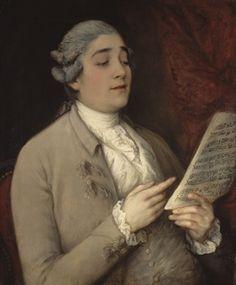THOMAS GAINSBOROUGH (SUDBURY 1727-1788 LONDON). Portrait of Giusto Tenducci, Circa 1773-1775 oil on canvas