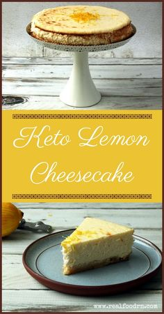Keto Lemon Cheesecake - At only 4.4 grams sugars per slice, this is the ideal dessert to enjoy if you want a real treat on the keto diet – and it's perfect for the gluten-intolerant too. #cheesecake #keto