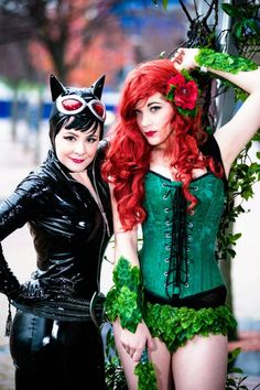 Cat Woman and Poison Ivy Cosplay
