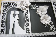 Wedding Vows White on white Altered Project