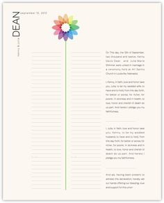 Modern Wedding Certificate - Bubble Bloom