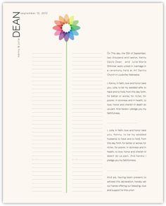Modern Wedding Certificate - Bubble Bloom