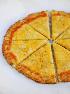 Low Carb Cauliflower Pizza Crust - The Low Carb Diet
