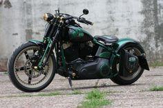 Customized Harley-Davidson Softail Cross Bones for Jever Beer by Thunderbike Customs Germany