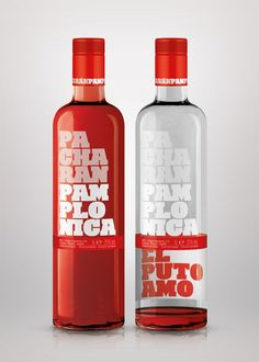 Pacharán Pamplonica (El puto amo) de Contrabriefing. Some kind of liquor with great #packaging PD