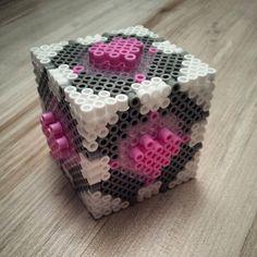 3D Portal cube hama beads by thegeekettte