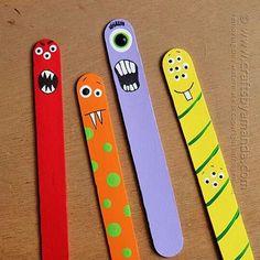 Monstor lolipop sticks