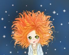Pond in Space by ~221bee on deviantART    I couldn't think of which image of young Amelia Pond to pin, but I chose this because I thought it depicted her wildness, dreaminess, and sense of wonder.  Young Amy reminds me of me as a kid because I too had an imaginary friend who was very similar to the Raggedy Doctor, and I too drew pictures of my daydreams like crazy! I desperately wished my imaginary friends would become real and come and find me.