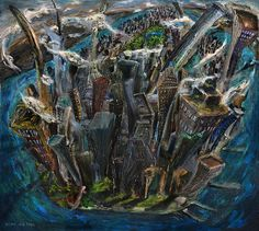 title - The Worlds Capital, oil on canvas, AntonioOrtiz.com, nyc  #nyc #centralpark #contemporarypainting #contemporaryart #landscapepainting #art #oilpainting #antonioortiz #nycartist