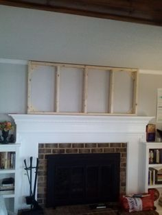 how to add molding to a fireplace