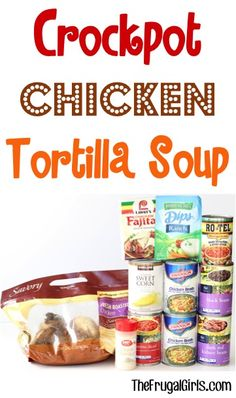Crockpot Tortilla Soup Recipe at TheFrugalGirls.com