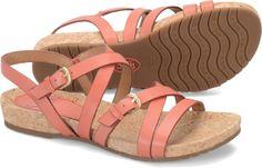 Sofft Maura sandal in Red Tangerine