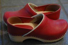 Red clogs-  bridgman pottery