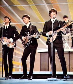 The Beatles performing on Ed Sullivan show