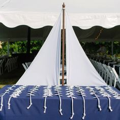 nautical stage decorations | elite events escort cards reception decor blue navy nautical