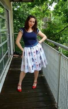 A Stitching Odyssey: Picnic at the Beach - Tilly skirt