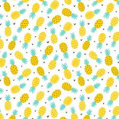 Pineapple Wallpaper, Pineapple Fabric, Pineapple Pattern, Pineapple Room, Fruit Pattern, Pineapple Illustration, Fruit Illustration, Tropical Design, Surface Pattern Design