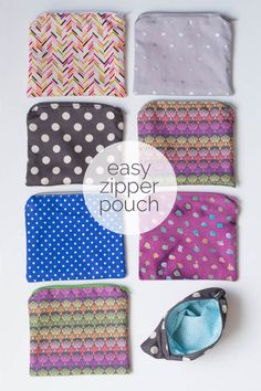 Make something handmade. Make an easy zipper pouch. It's the easiest project. Perfect for novice sewers!