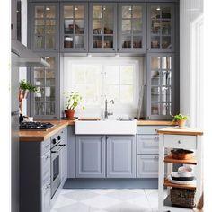 schöne, graue Küche