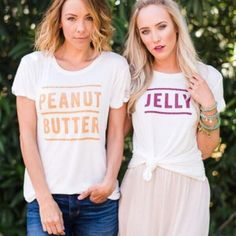 BFF Shirts Peanut Butter and Jelly