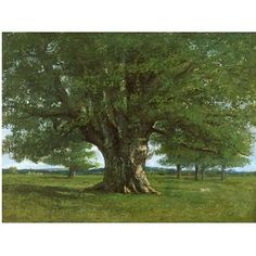 Trademark Art The Oak of Flagey Canvas Art by Gustave Courbet, Size: 35 x 47, Multicolor