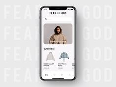 All the major high-fashion companies have an app. Fixing that with an app filled with smooth transitions, clean and simple navigation, and some beats. page ui Fear Of God Fashion Store App Concept Mobile App Design, Android App Design, Web Mobile, Ux Design, Design Layouts, Branding, Mobiles Webdesign, Ecommerce App, Ecommerce Web Design