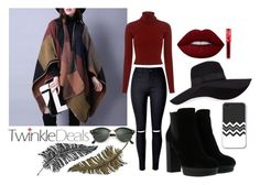 """Twinkle autumn"" by mercija ❤ liked on Polyvore featuring A.L.C., Hogan, Ray-Ban, San Diego Hat Co., Paperself and Lime Crime"