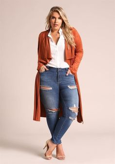 Cute Outfits For Plus Size Women. Graceful Plus Size Fashion Outfit Dresses for Everyday Ideas And Inspiration. Plus Size Refashion. Look Plus Size, Plus Size Casual, Plus Size Jeans, Plus Size Style, Plus Size Fashion For Women, Plus Size Womens Clothing, Clothes For Women, Clothes Sale, Big Size Fashion