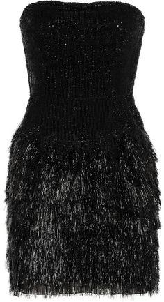 Roberto Cavalli Fringed sequined dress on shopstyle.com