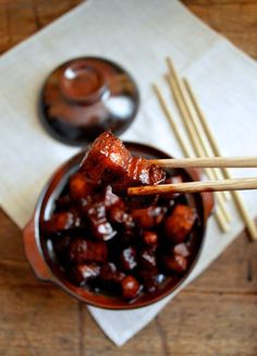 Shanghai-Style Braised Pork Belly (hong shao rou, 红烧肉) is a very famous dish in China. Everyone knows hong shao rou (red cooked pork) is a Shanghai favorite