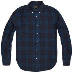 Beams Plus Button Down Blackwatch Shirt (Blackwatch Tartan)