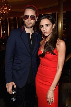 Jared Leto and Victoria Beckham attend the 2015 Glamour Women of The Year Awards