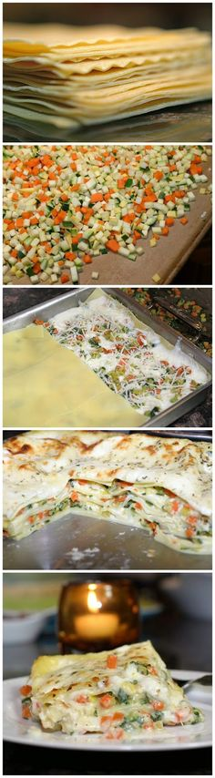 Roasted Vegetable Lasagna - I'm not exactly sure why but this really appeals